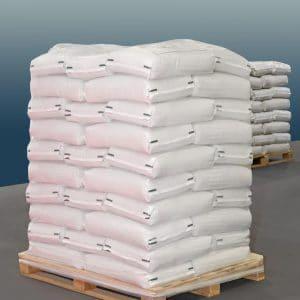 200 Kg = 20 sacs de 10 Kg sur palettes filmées